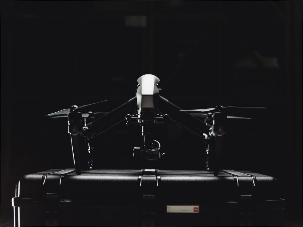 Black And White Photo Of Drone