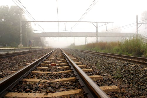 Free stock photo of early morning, mist, railroad track