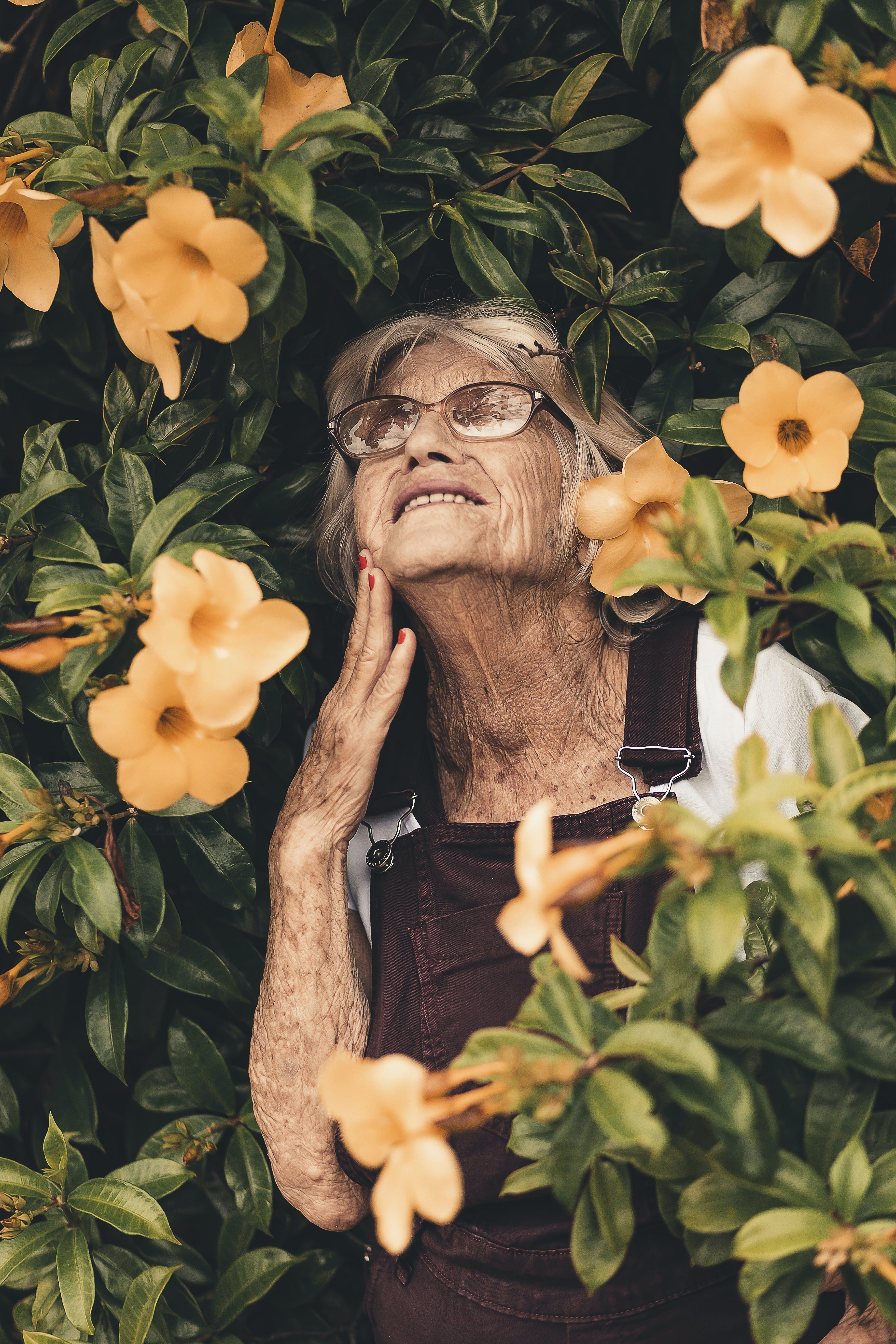 Foto d'estoc gratuïta de ancià, ancians, arrugues, àvia