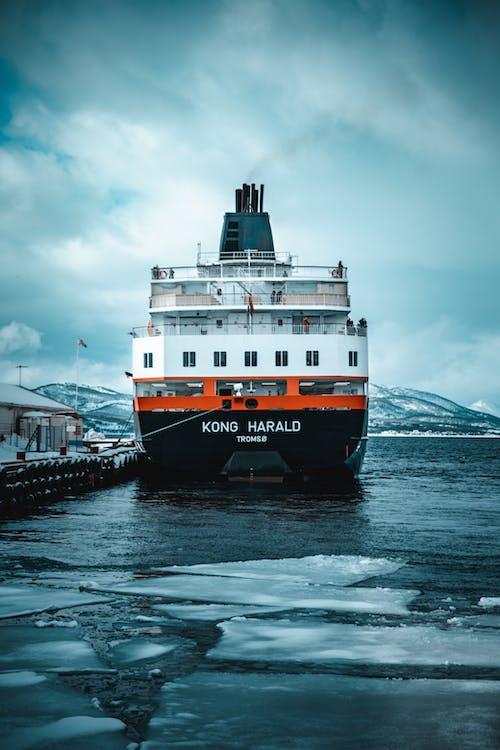 ノルウェー, フェリー, 交通機関, 氷の無料の写真素材