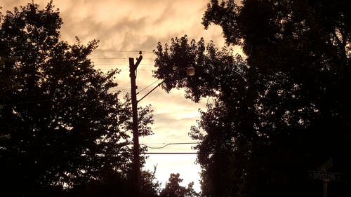 Free stock photo of clouds, power lines, Storm Clouds, street light