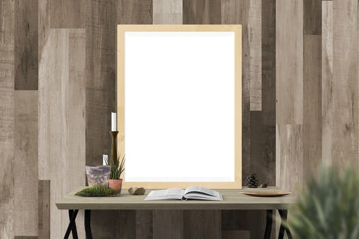 Blank Frame Above Table 183 Free Stock Photo