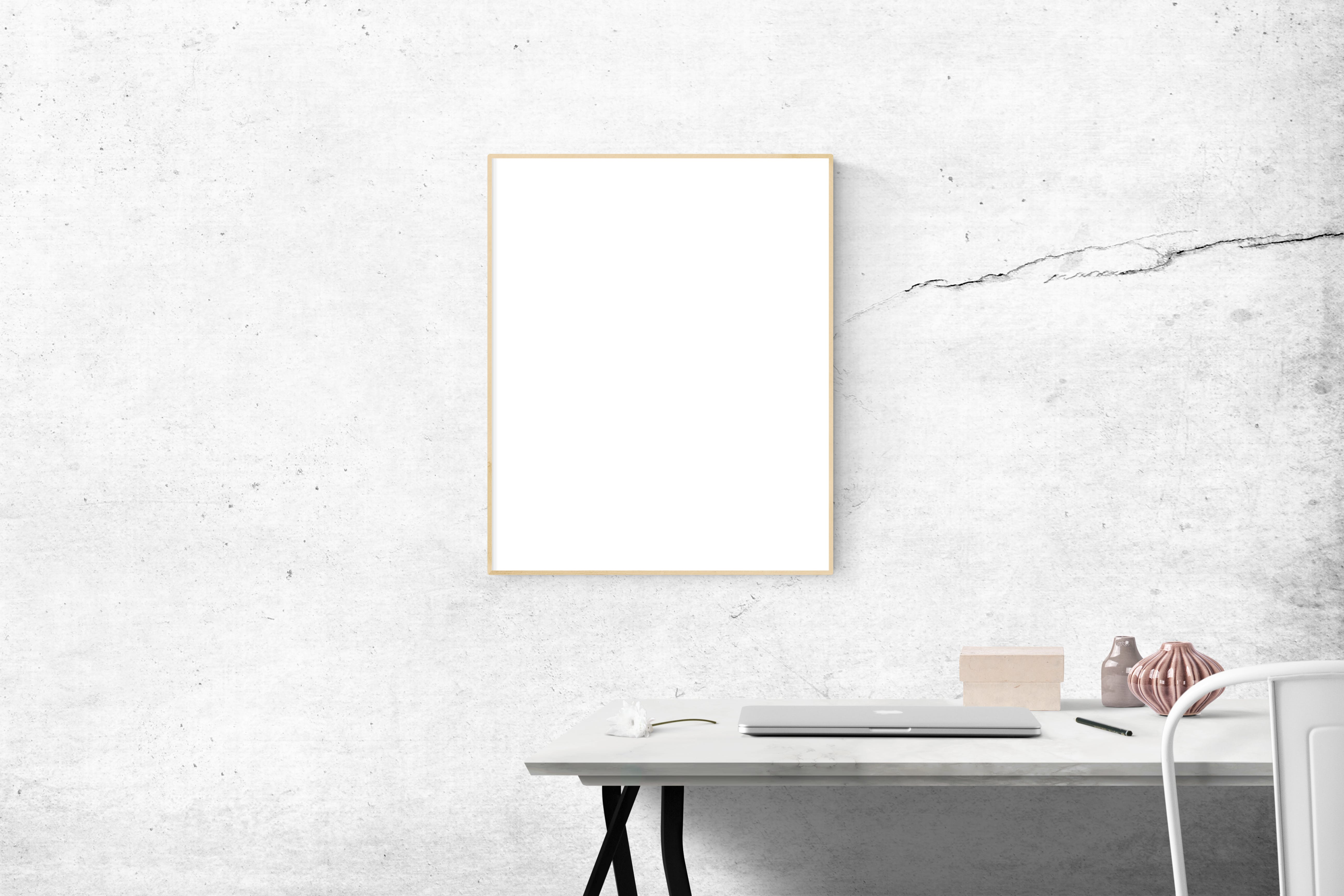 Blank Frame Above Table