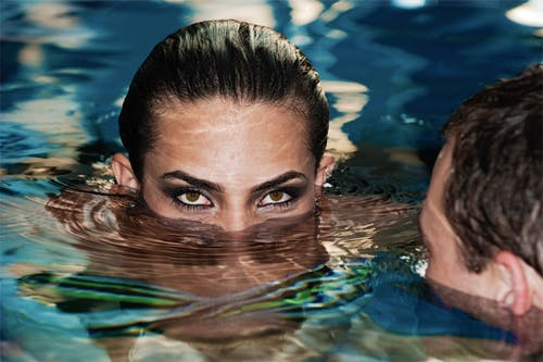 Free stock photo of beautiful woman, dug-out pool, eyes