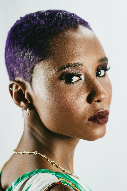 アフリカ系アメリカ人女性, グラマー, モデル, 化粧の