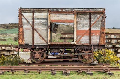 Free stock photo of rail, railcart, rust, rusted
