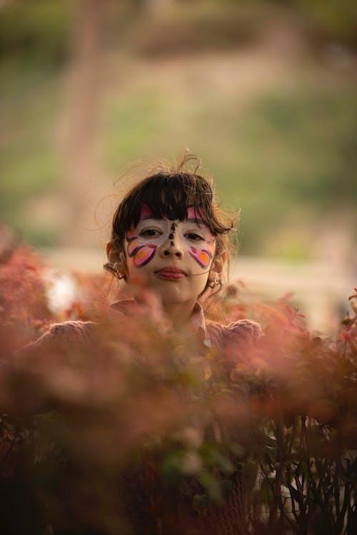 Imagine de stoc gratuită din fată, față vopsită, femeie, fir de păr
