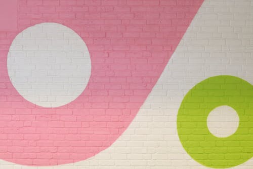 Δωρεάν στοκ φωτογραφιών με ζωγραφισμένο τοίχο, πολύχρωμος, πράσινος, τοίχος από τούβλα