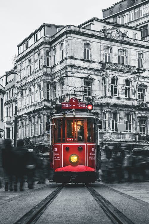 Free stock photo of black and white, cable car, city