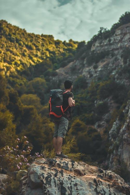 aikuinen, kallio, kalliokiipeily