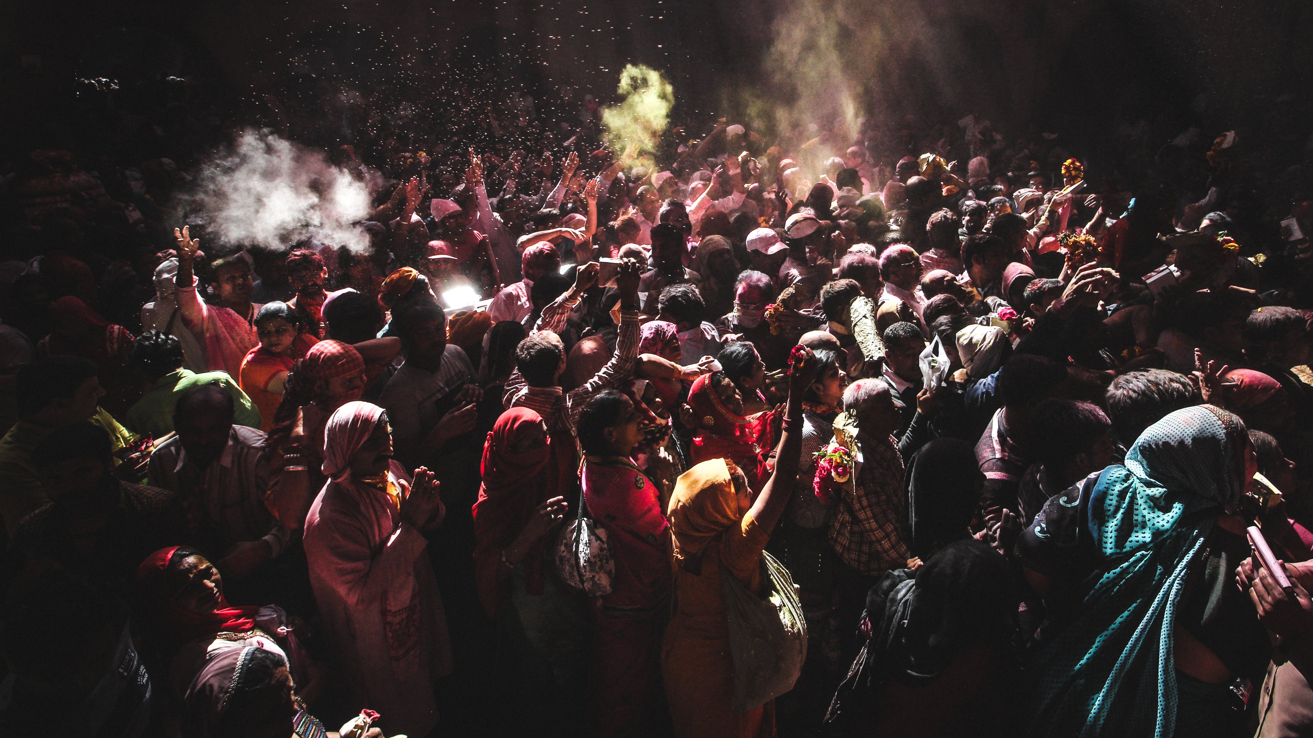 Free stock photo of color festival, colors everywhere, crowd, crowd in india