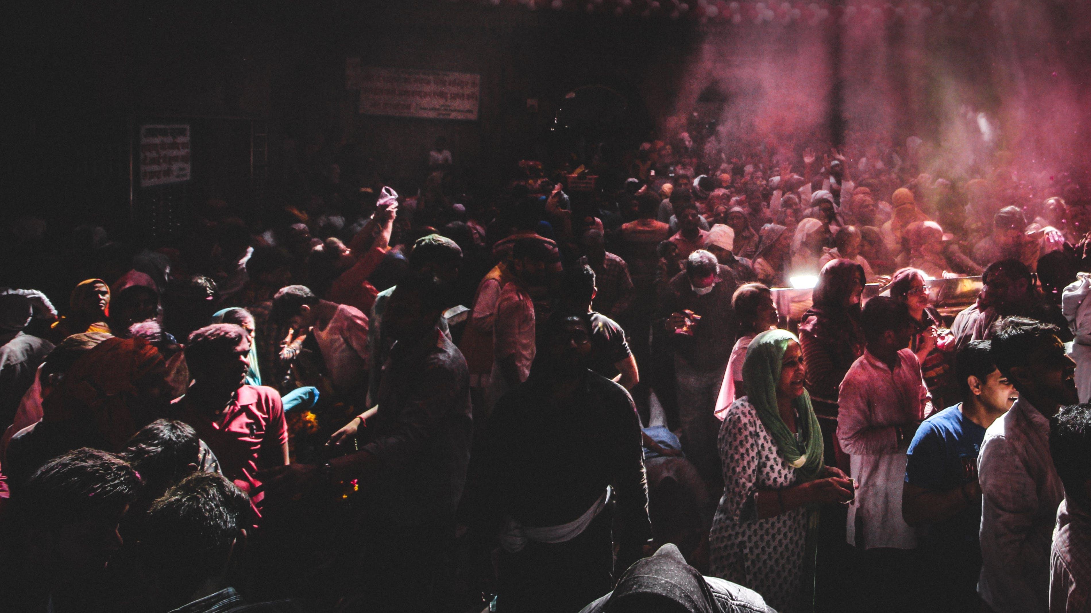 Gratis lagerfoto af folk, holi, Indien, menneskemængde