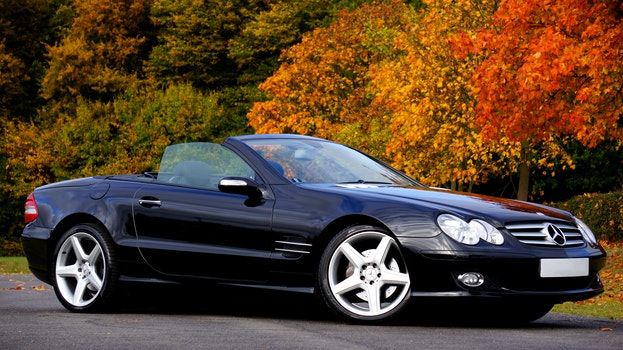 Black Mercedes Benz Convertible Coupe Sl Class