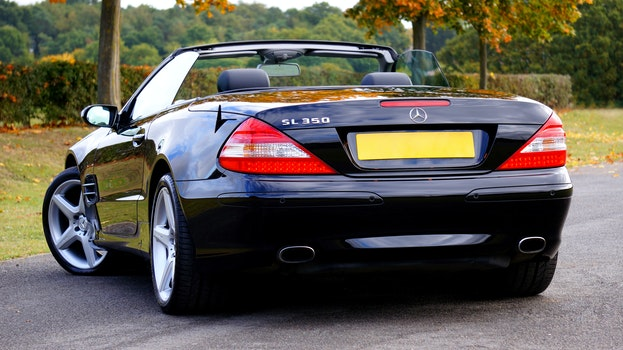Black Mercedes Benz Sl 350 Convertible Coupe