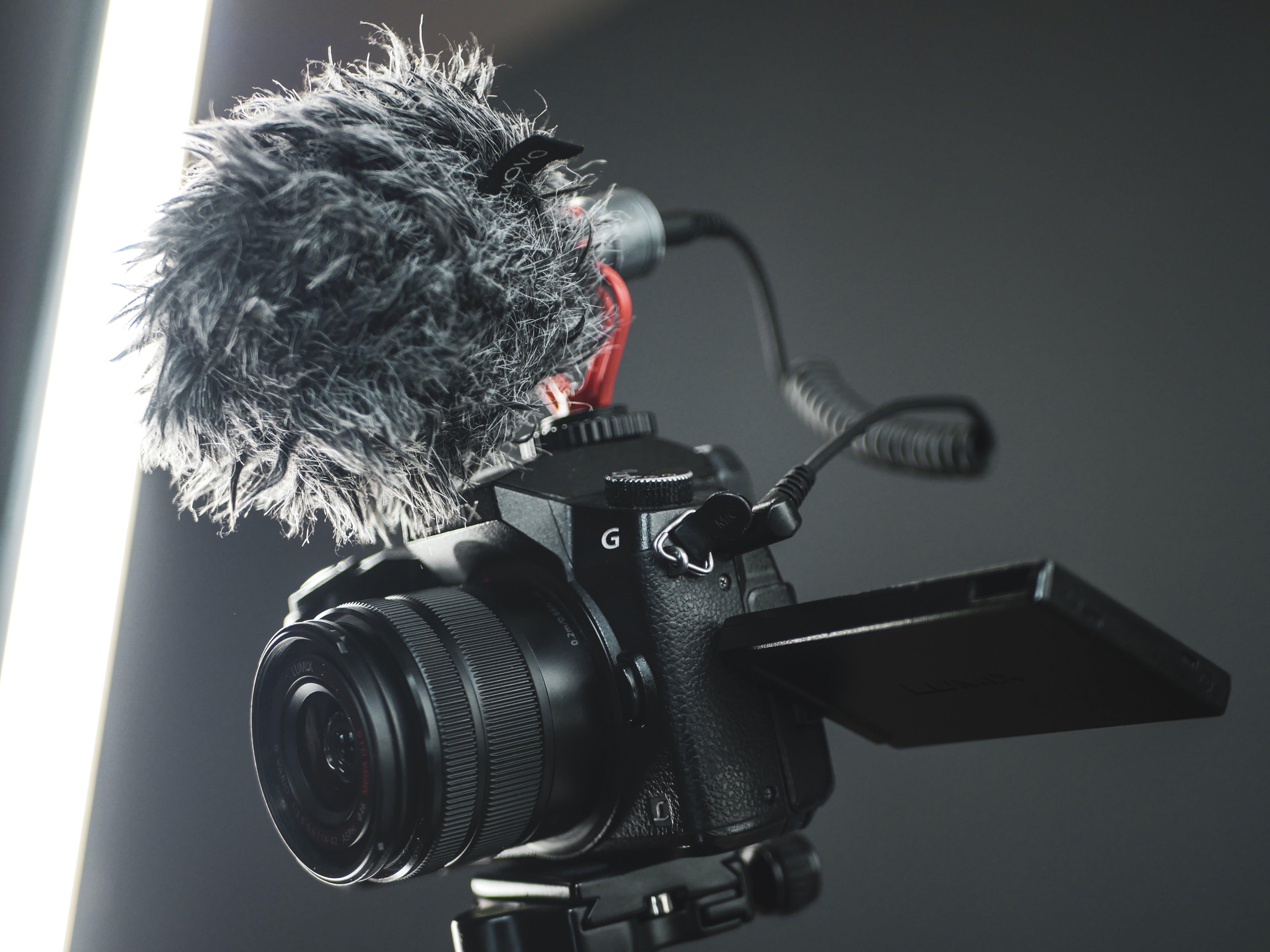 Základová fotografie zdarma na téma elektronika, fotoaparát, lehký, mikrofon