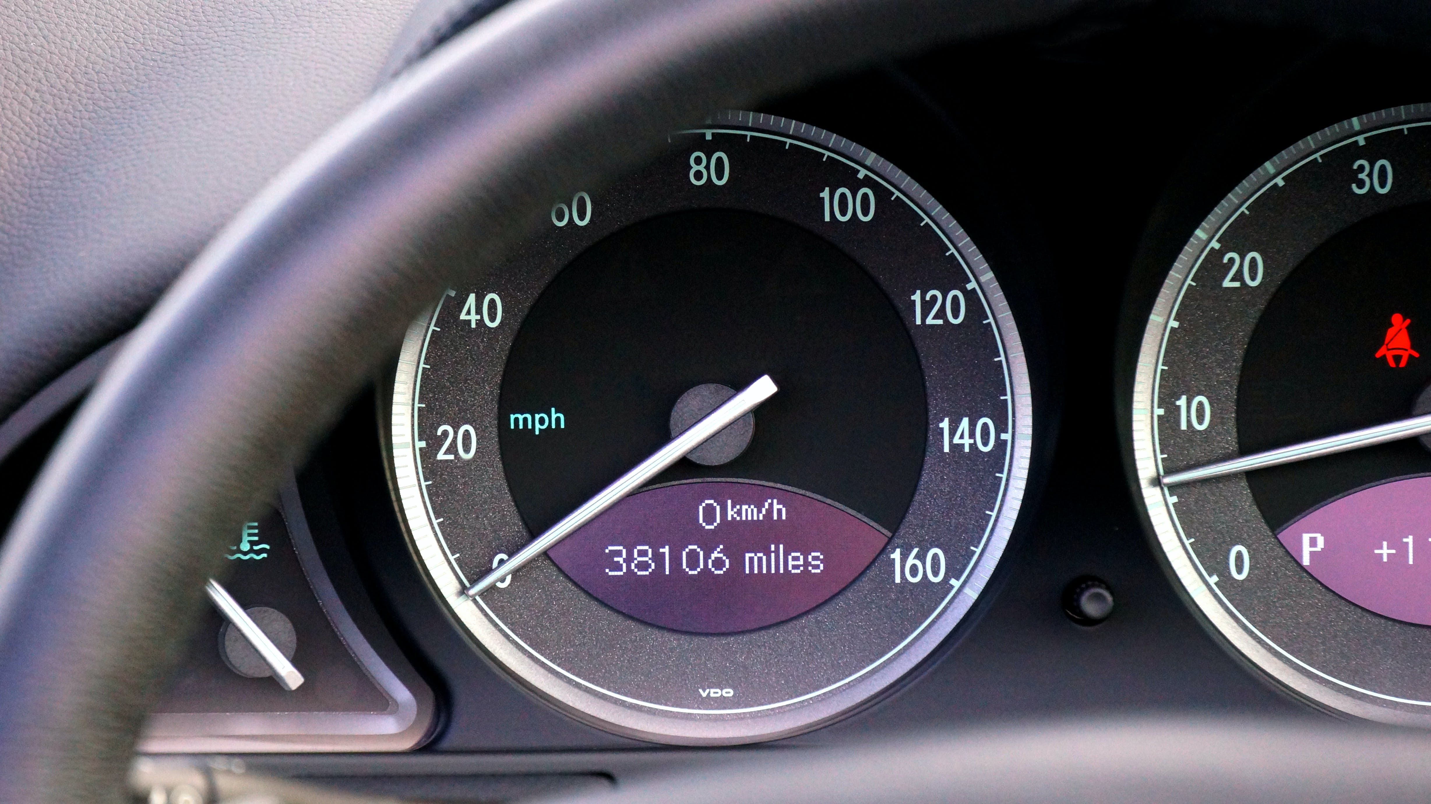 Black Analog Car Speedometer