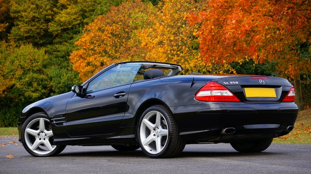 Mercedes A Class >> Black Mercedes Benz Convertible Coupe Sl Class · Free Stock Photo