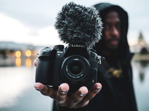 Fotobanka sbezplatnými fotkami na tému černoch, človek, detailný záber, fotoaparát