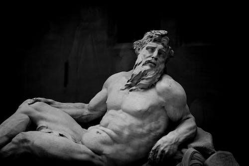 블랙 앤 화이트, 예술, 조각상, 종교의 무료 스톡 사진