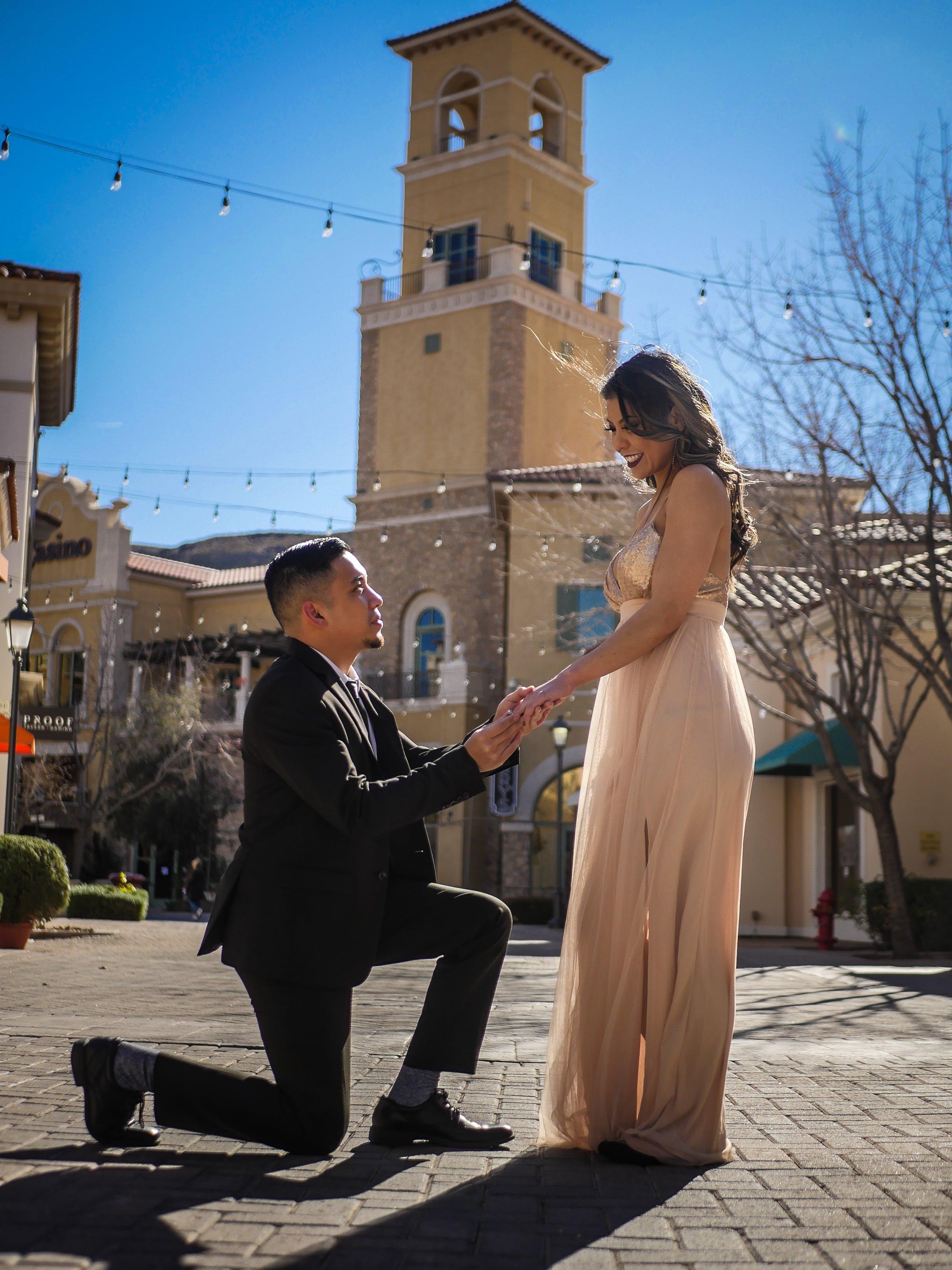 결혼 프로포즈, 낭만적인, 사랑, 아름다운의 무료 스톡 사진