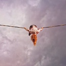 sky, person, rope