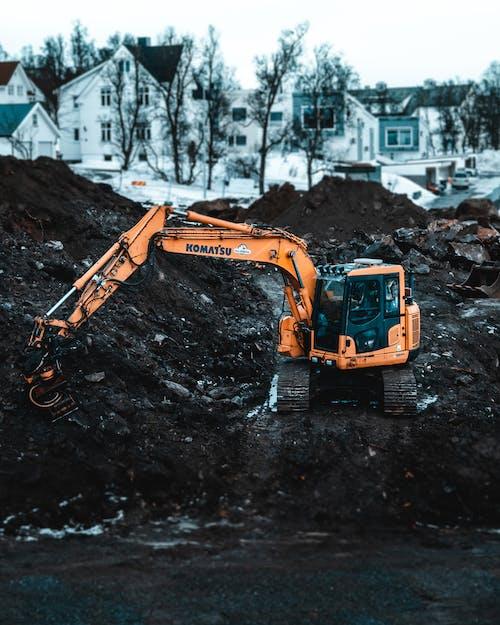 Základová fotografie zdarma na téma bagr, kopat, moc lopata, nákladní automobil