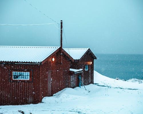 Základová fotografie zdarma na téma budova, mrazivo, norsko, počasí