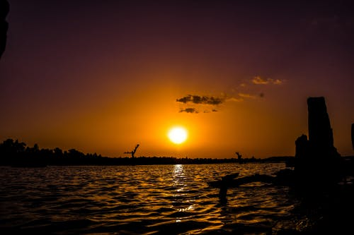 傍晚的天空, 傍晚的太陽, 日落, 池塘 的 免費圖庫相片