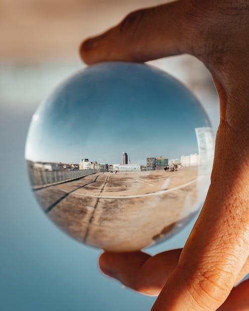 Imagine de stoc gratuită din glob de sticlă, minge, reflexie, sferă