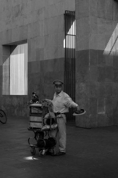 Immagine gratuita di bianco e nero, persona, strada, uomo