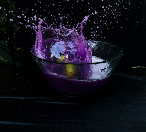 Free stock photo of purple, splash, water