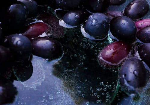 Free stock photo of grapes, purple, soda water, water