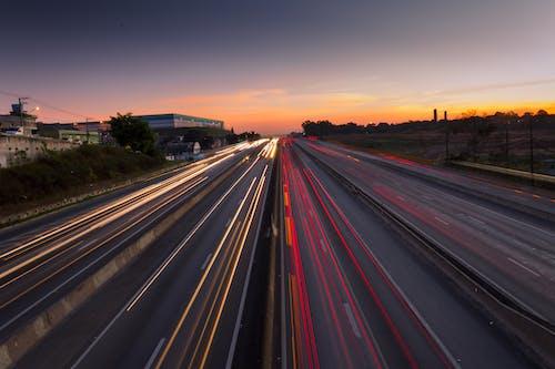 Fotos de stock gratuitas de amanecer, asfalto, autopista, cámara rápida
