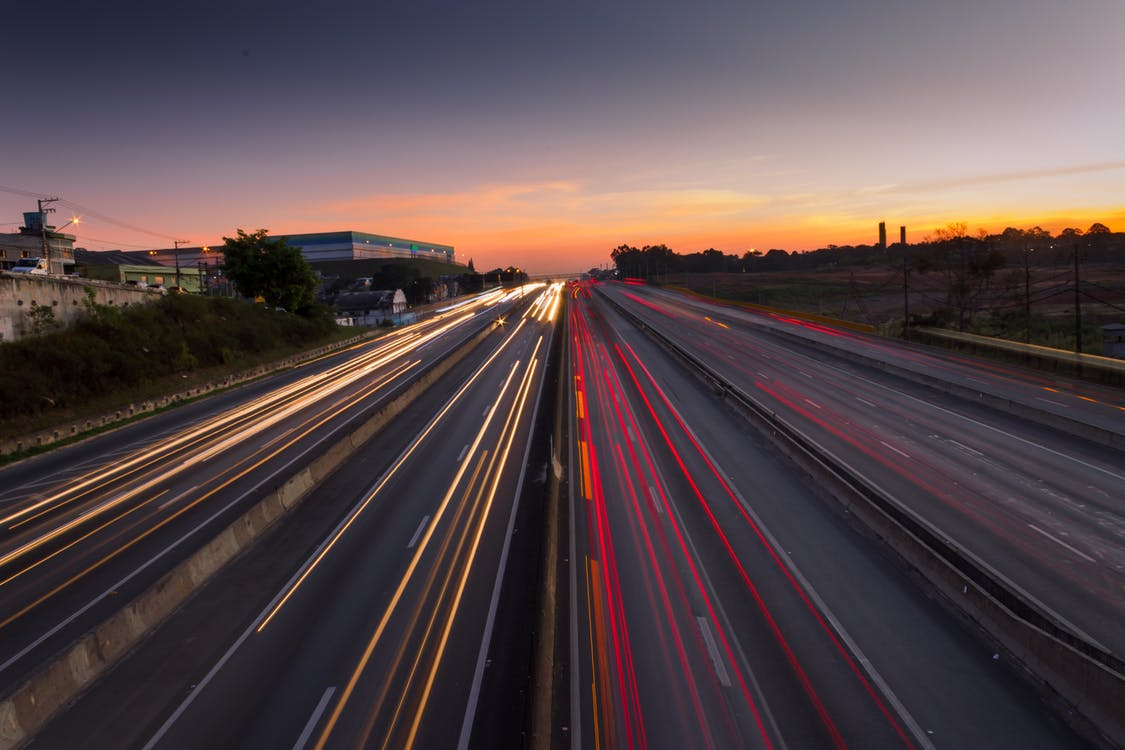 고속도로, 긴, 도로