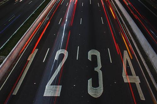 Kostenloses Stock Foto zu asphalt, beleuchtung, langzeitbelichtung, lichtstreifen