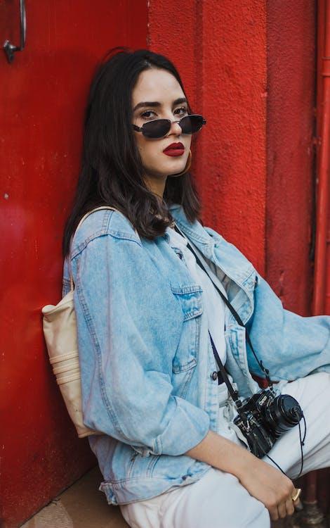 attraktiv, brillen, dame