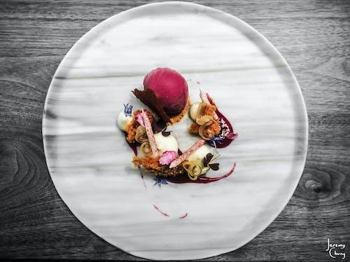 Dessert on Gray Plate