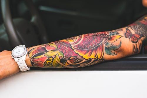 Foto profissional grátis de arma, arte, corpo, tattoos