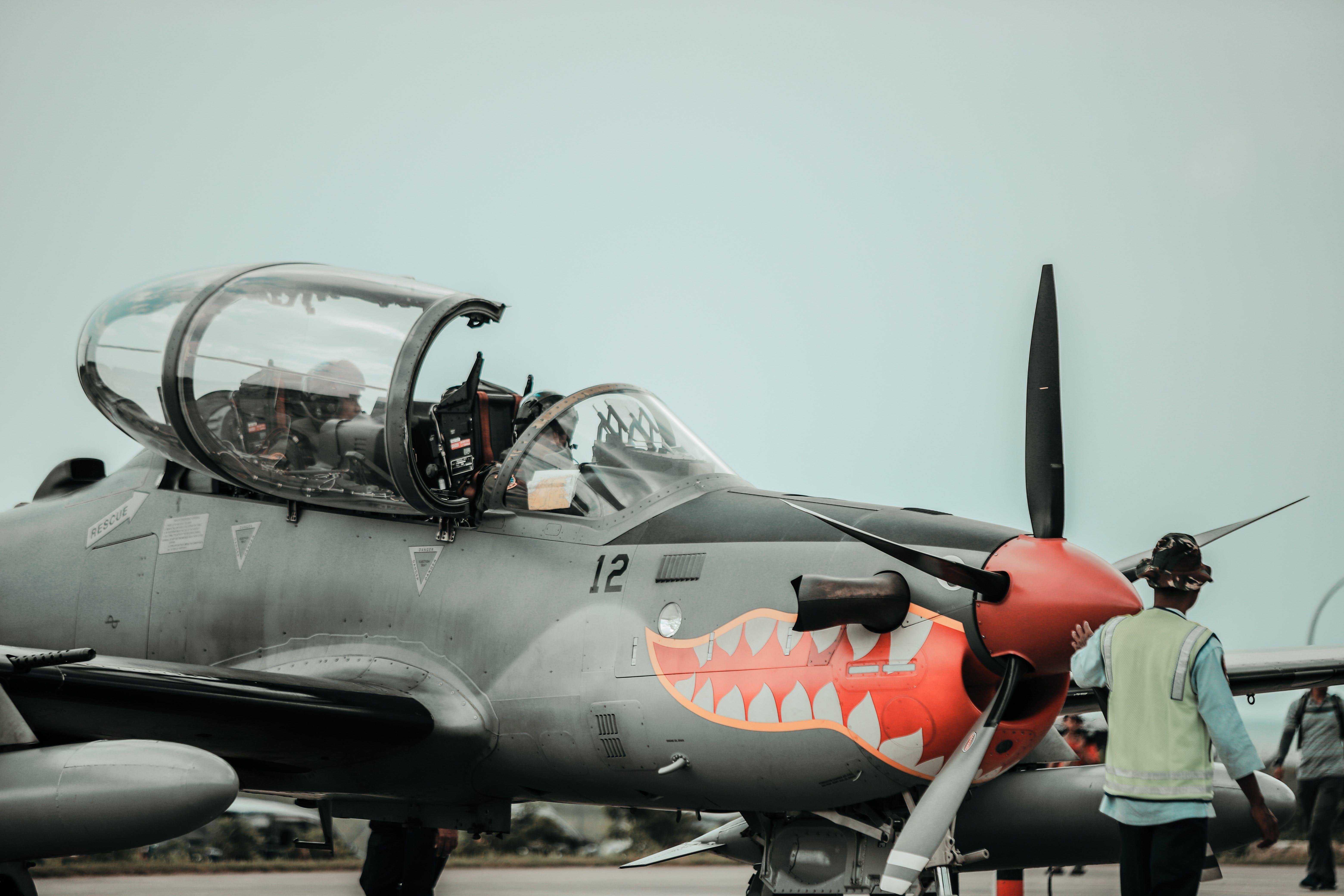 cockpit, fly, flyvemaskine