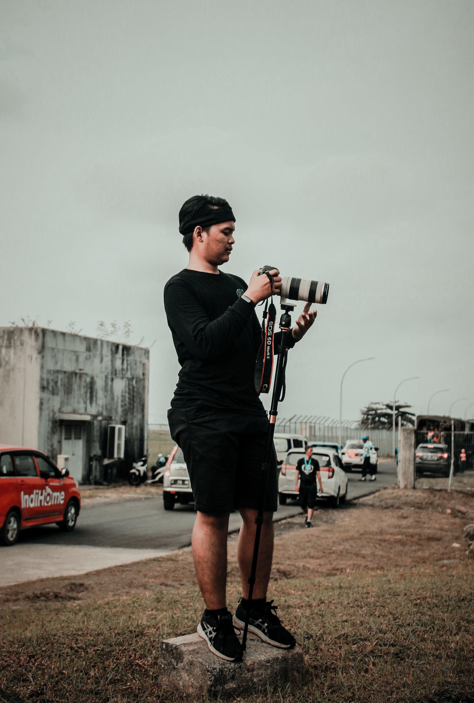 fotograf, kamera, mand