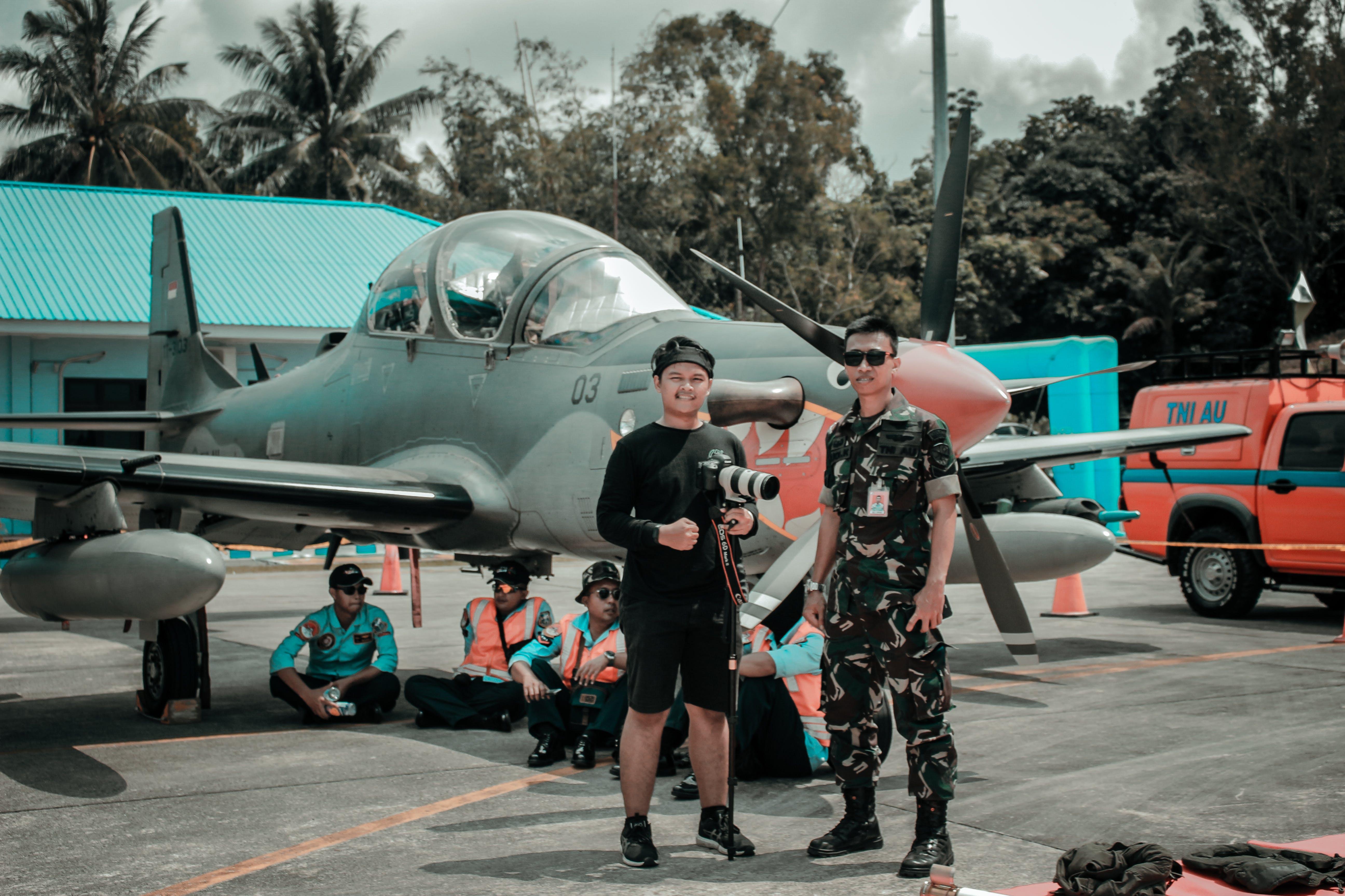 Men Near Plane
