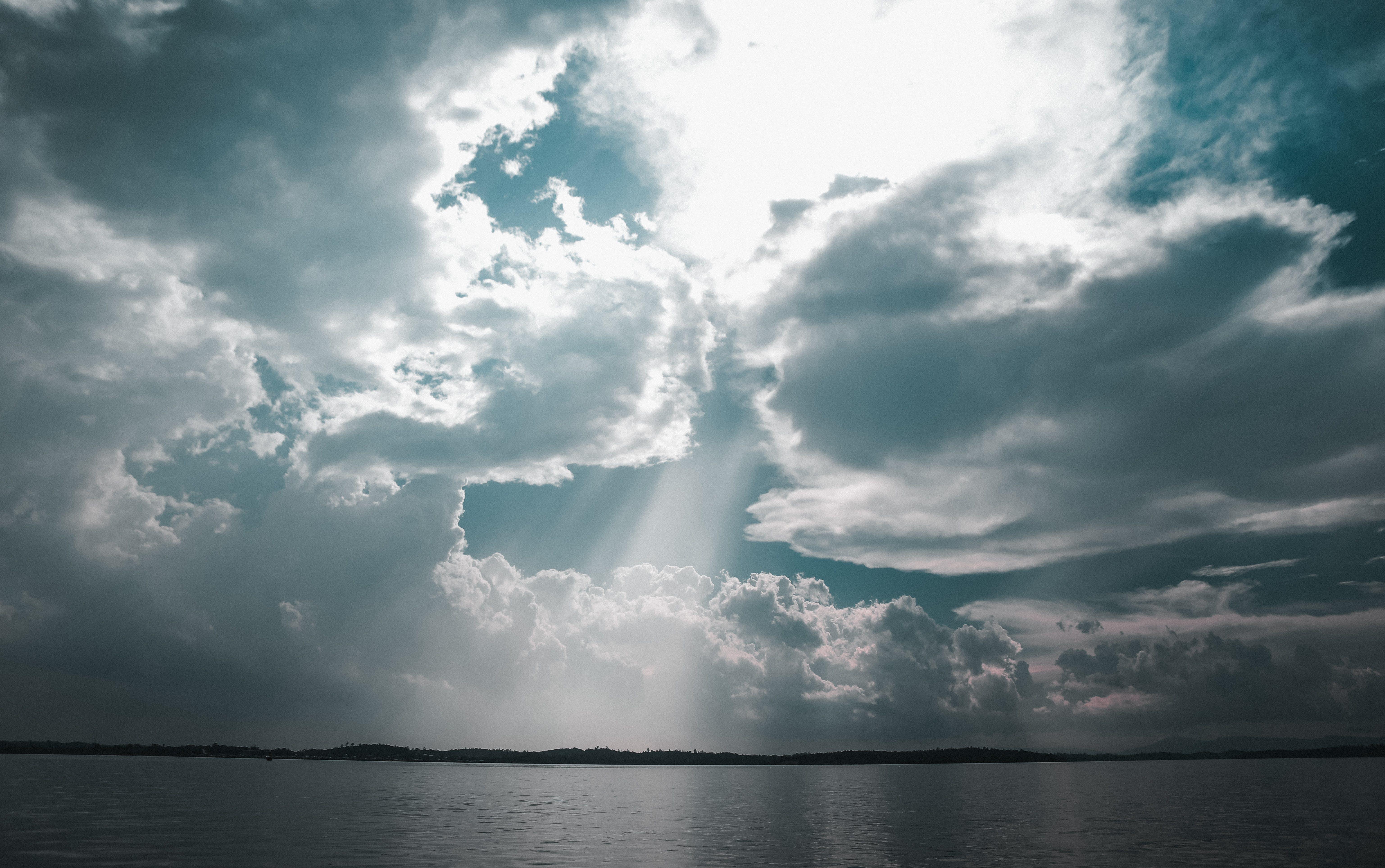 Základová fotografie zdarma na téma moře, mraky, obloha, oceán