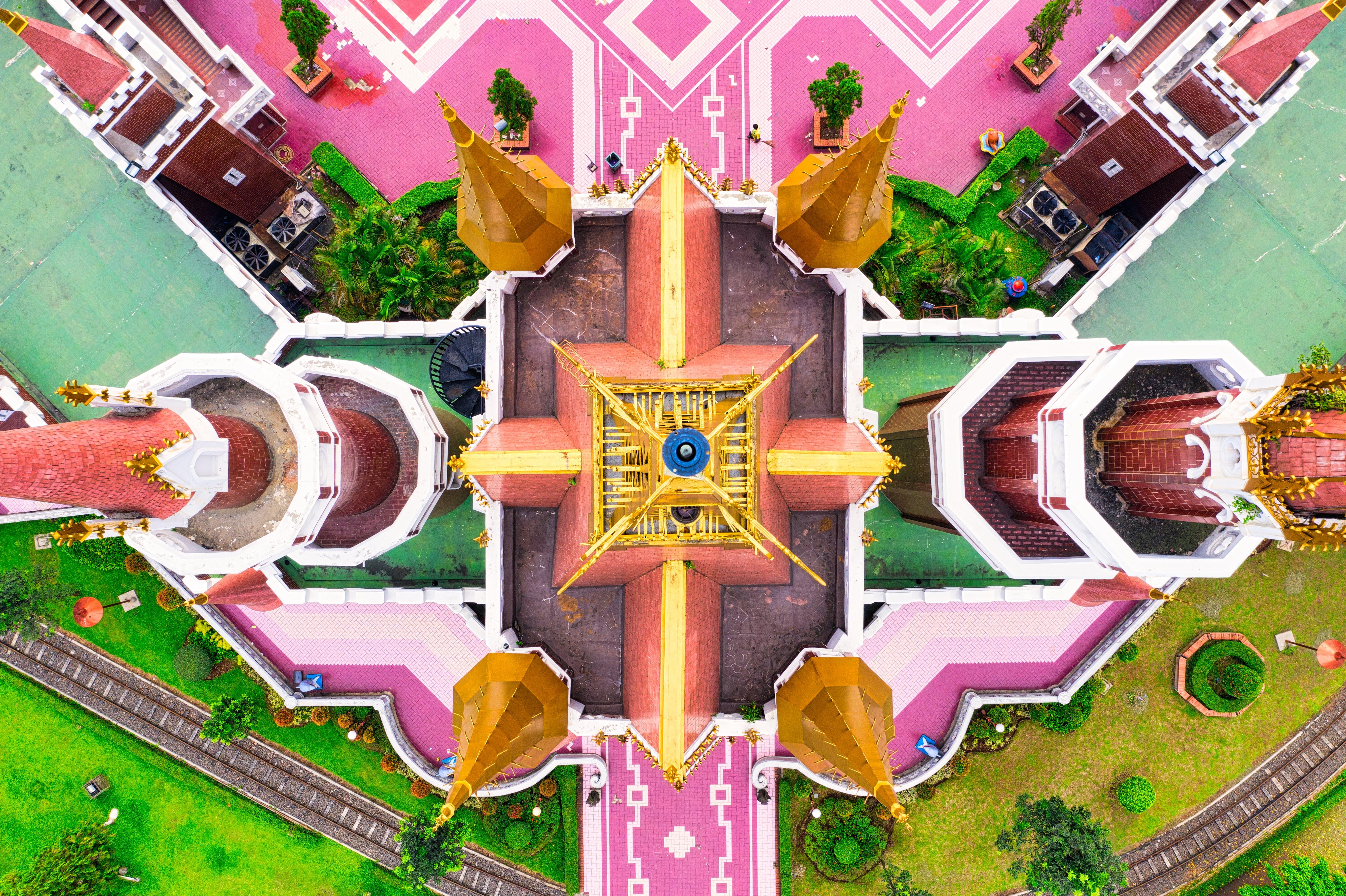 Aerial Shot Of Castle