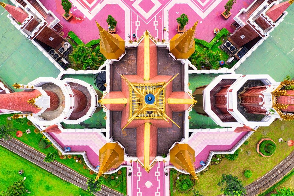 จากข้างบน, ปราสาท, ภาพถ่ายทางอากาศ