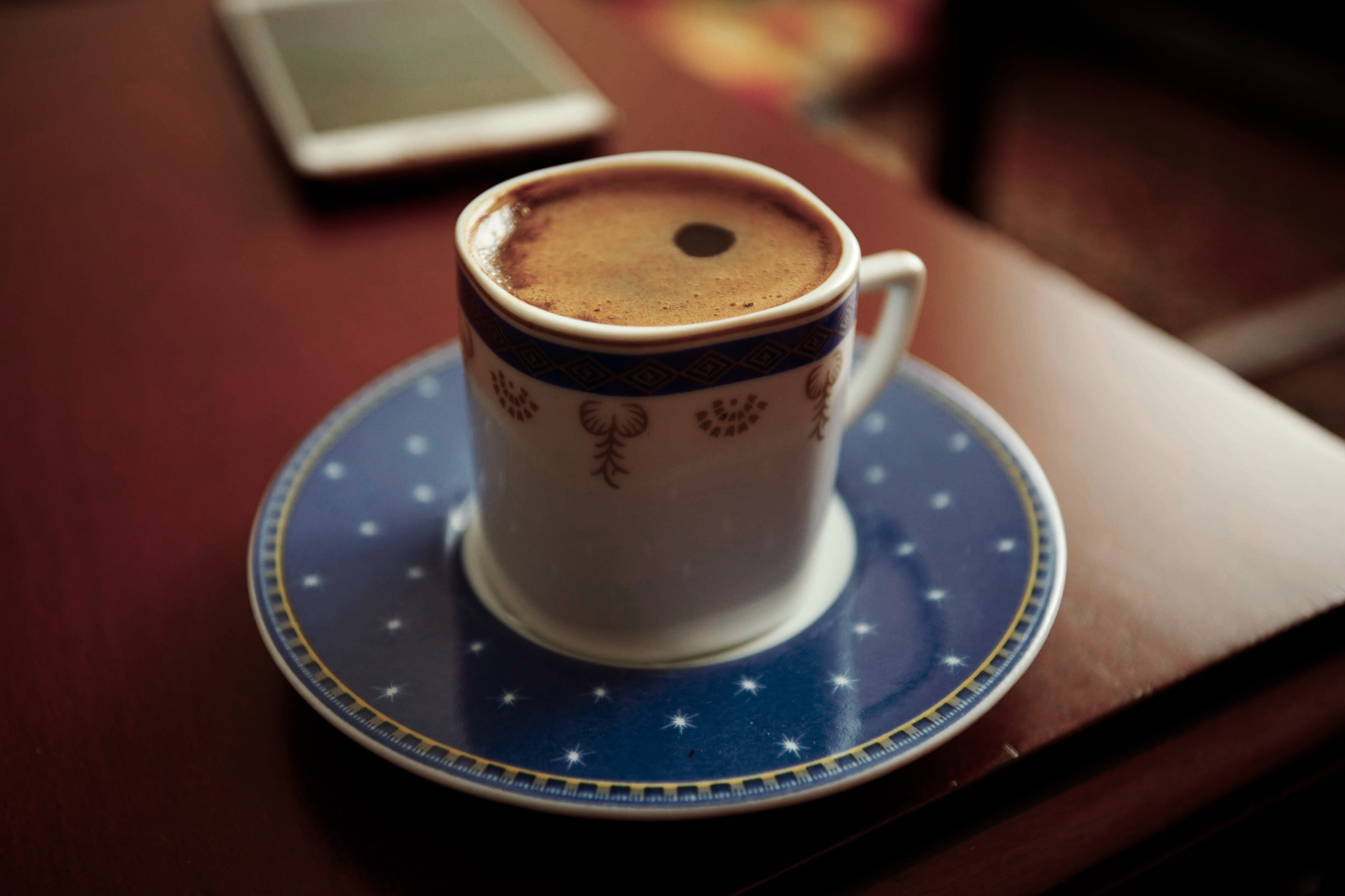 Ceramic Cup Filled With Coffee