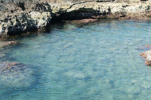 고요한, 녹색, 락, 바다의 무료 스톡 사진