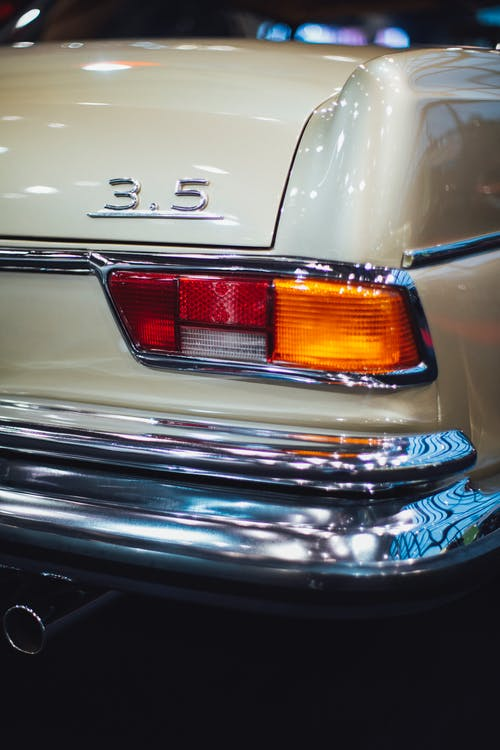 Close-Up Photo of Vintage Car