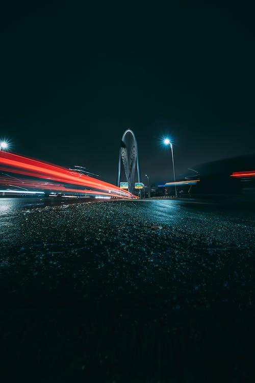 Darmowe zdjęcie z galerii z droga, długa ekspozycja, smugi światła, światła