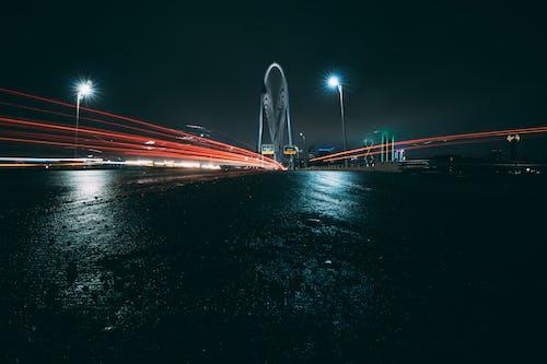 Foto profissional grátis de estrada, exposição longa, fachos de luz, luzes