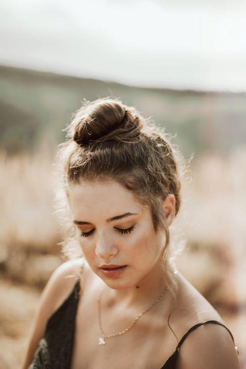 fryzura, kobieta, model